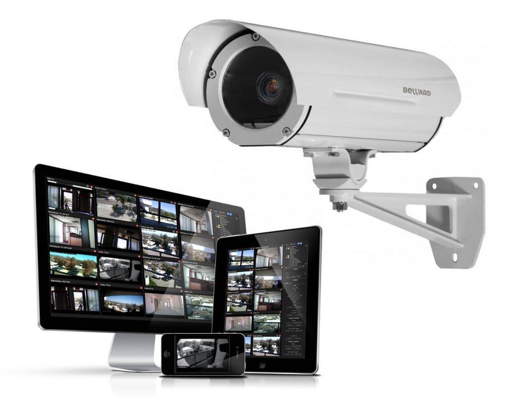 камера видеонаблюдения и девайсы